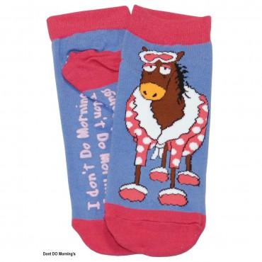 Womens - Slipper Socks  - Don't Do Mornings